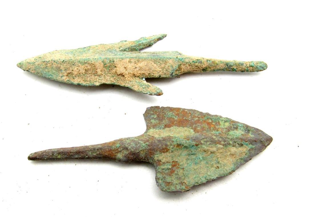 Pair of Bronze Age Military Arrowheads - 3