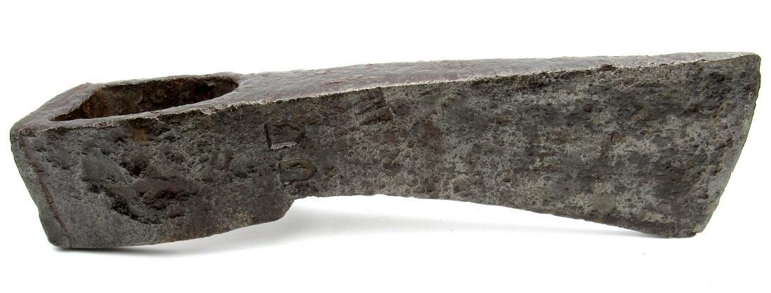 Large Medieval Crusaders Iron Axehead with Makers Marks