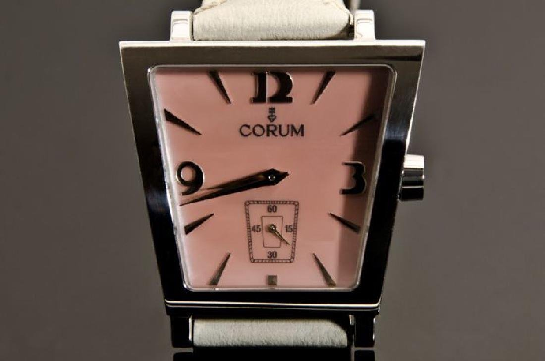 Corum Pink Trapez Stainless Steel Watch