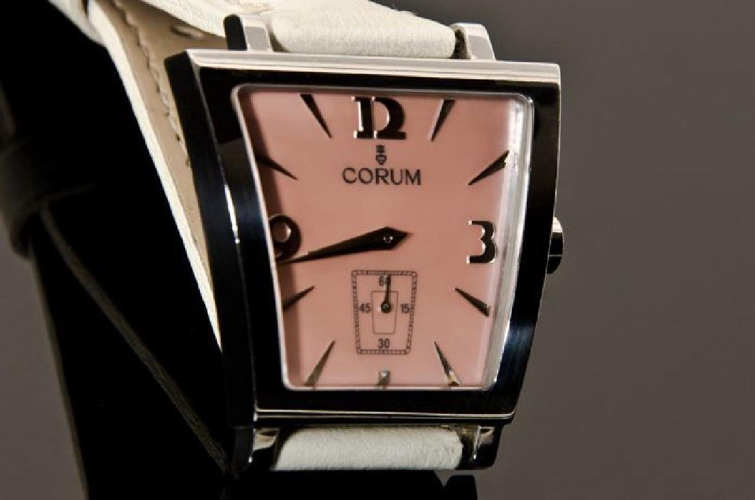 Corum Pink Trapez Stainless Steel Watch - 2