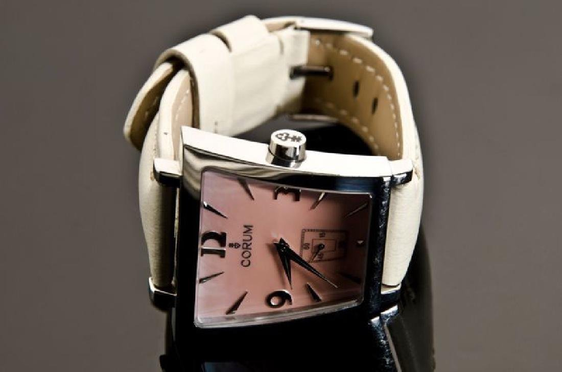 Corum Pink Trapez Stainless Steel Watch - 7