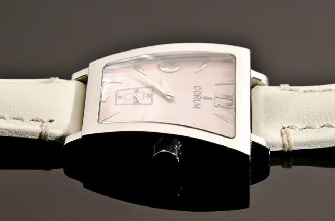 Corum Pink Trapez Stainless Steel Watch - 8