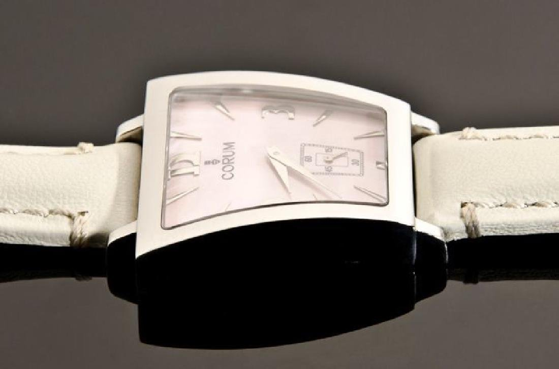 Corum Pink Trapez Stainless Steel Watch - 9