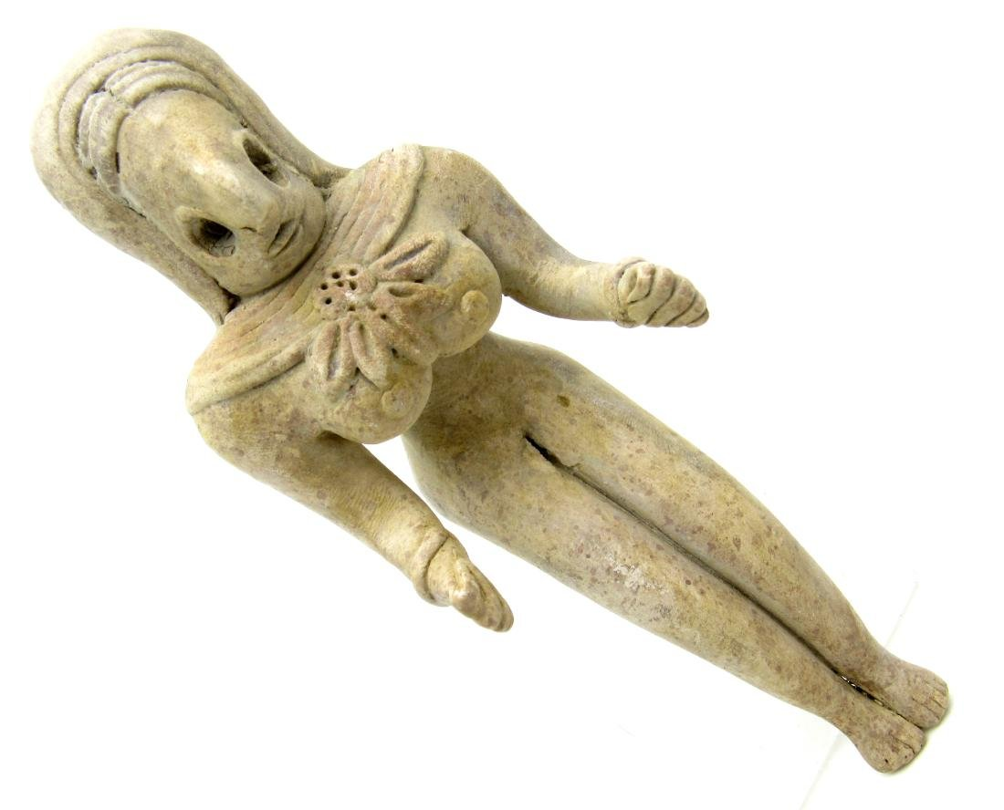 Indus Valley Terracotta Seated Female Fertility Idol  /
