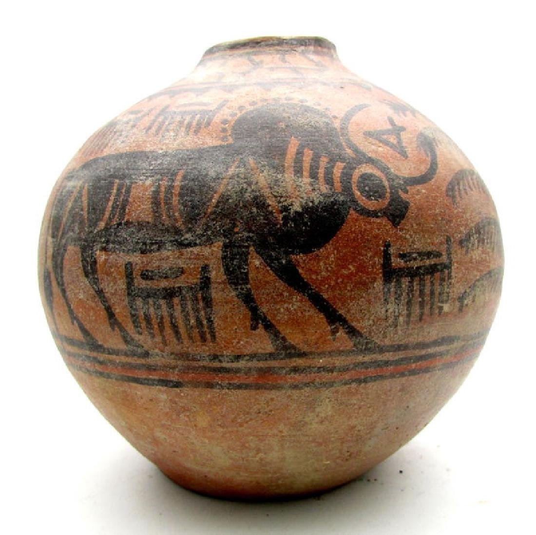 Indus Valley Painted Terracotta Jar with Bull Motif - 4