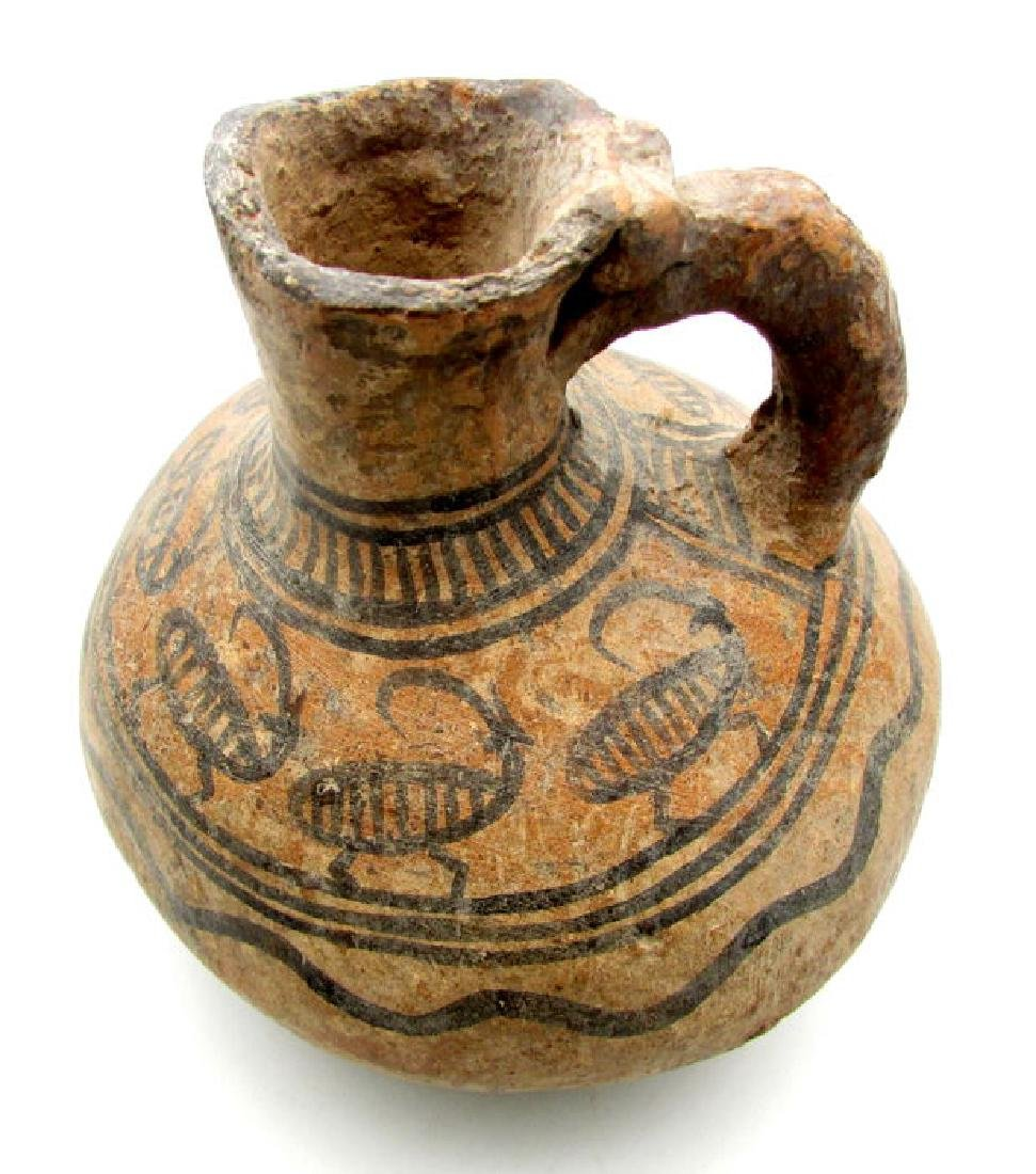 Indus Valley Painted Terracotta Goblet and Jug with - 2