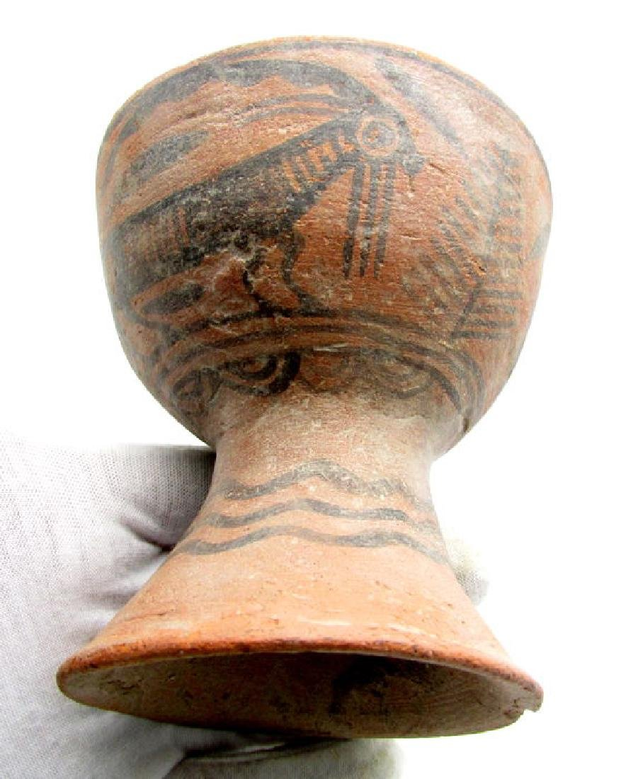 Indus Valley Painted Terracotta Goblet and Jug with - 4
