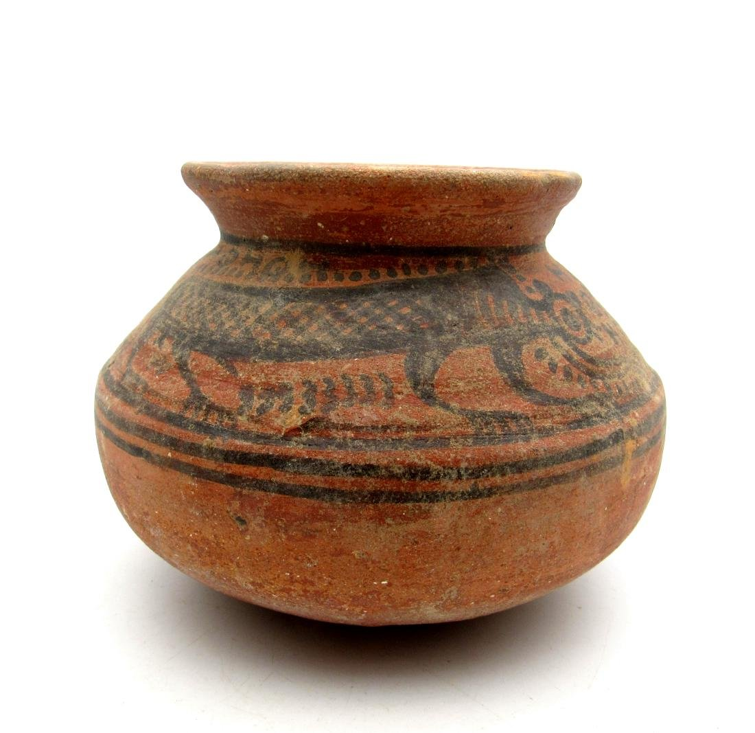 Indus Valley Painted Terracotta jar with Monkey Motif - 3