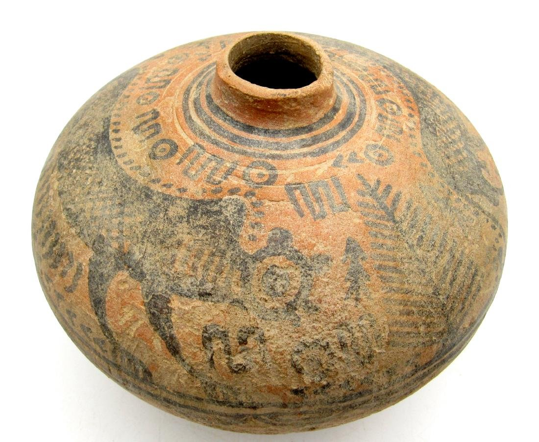 Indus Valley Painted Terracotta jar with Monkey Motif