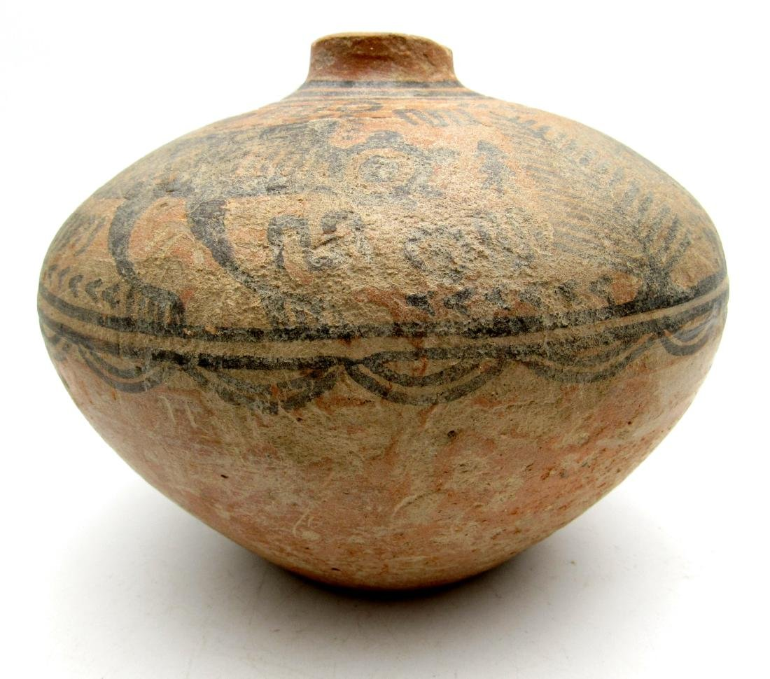 Indus Valley Painted Terracotta jar with Monkey Motif - 4