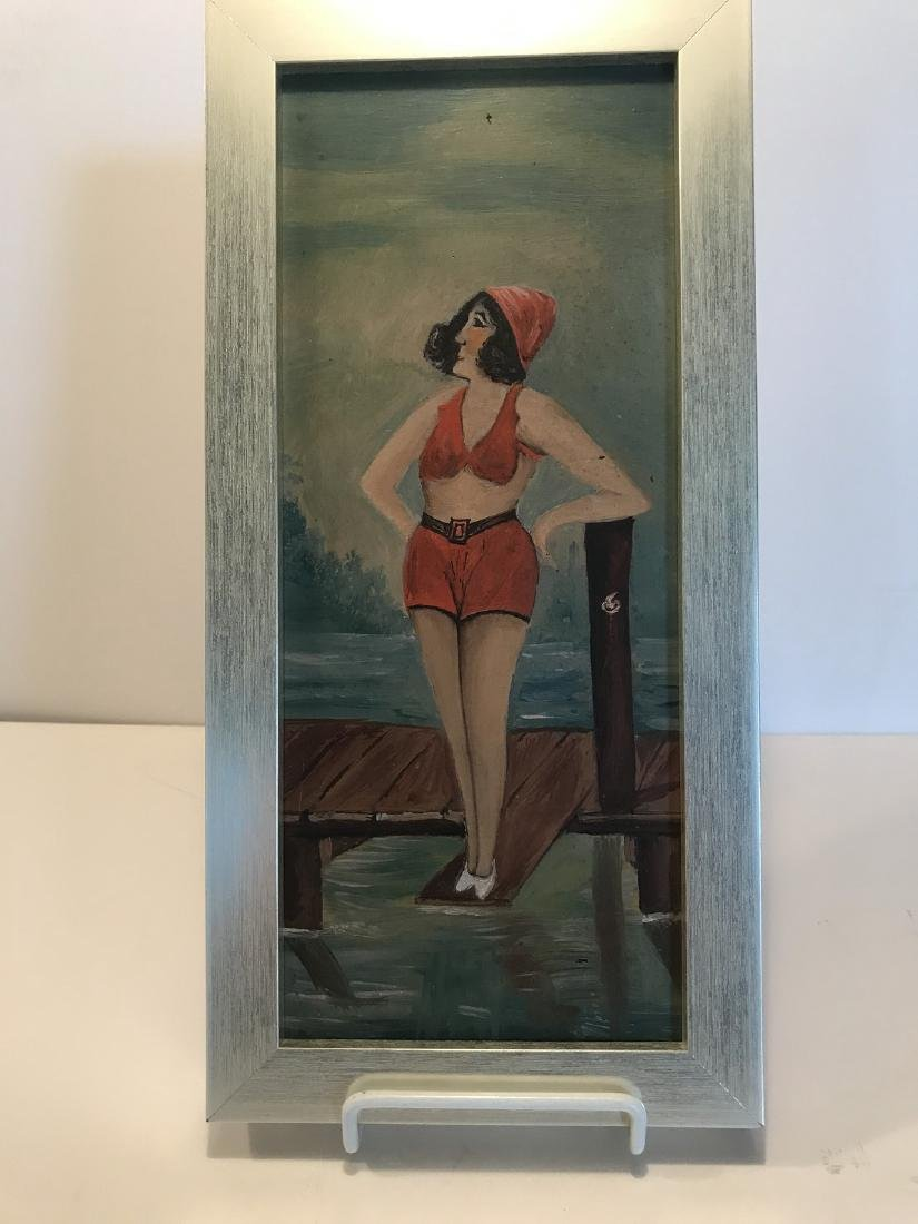 Painting Bathing Beauty Early 20th Century