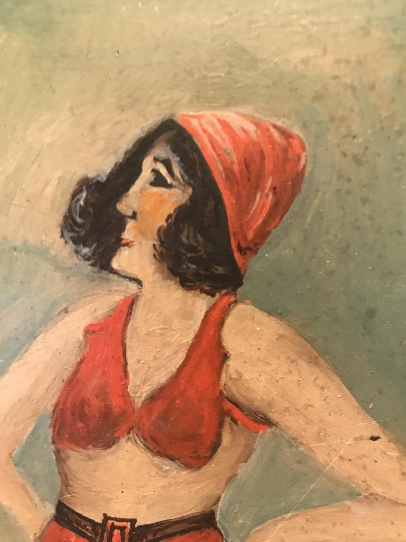 Painting Bathing Beauty Early 20th Century - 2