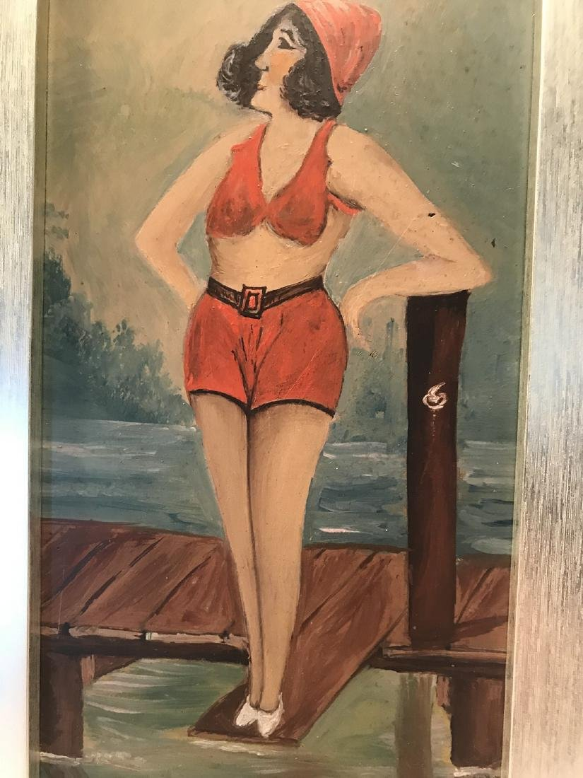 Painting Bathing Beauty Early 20th Century - 3