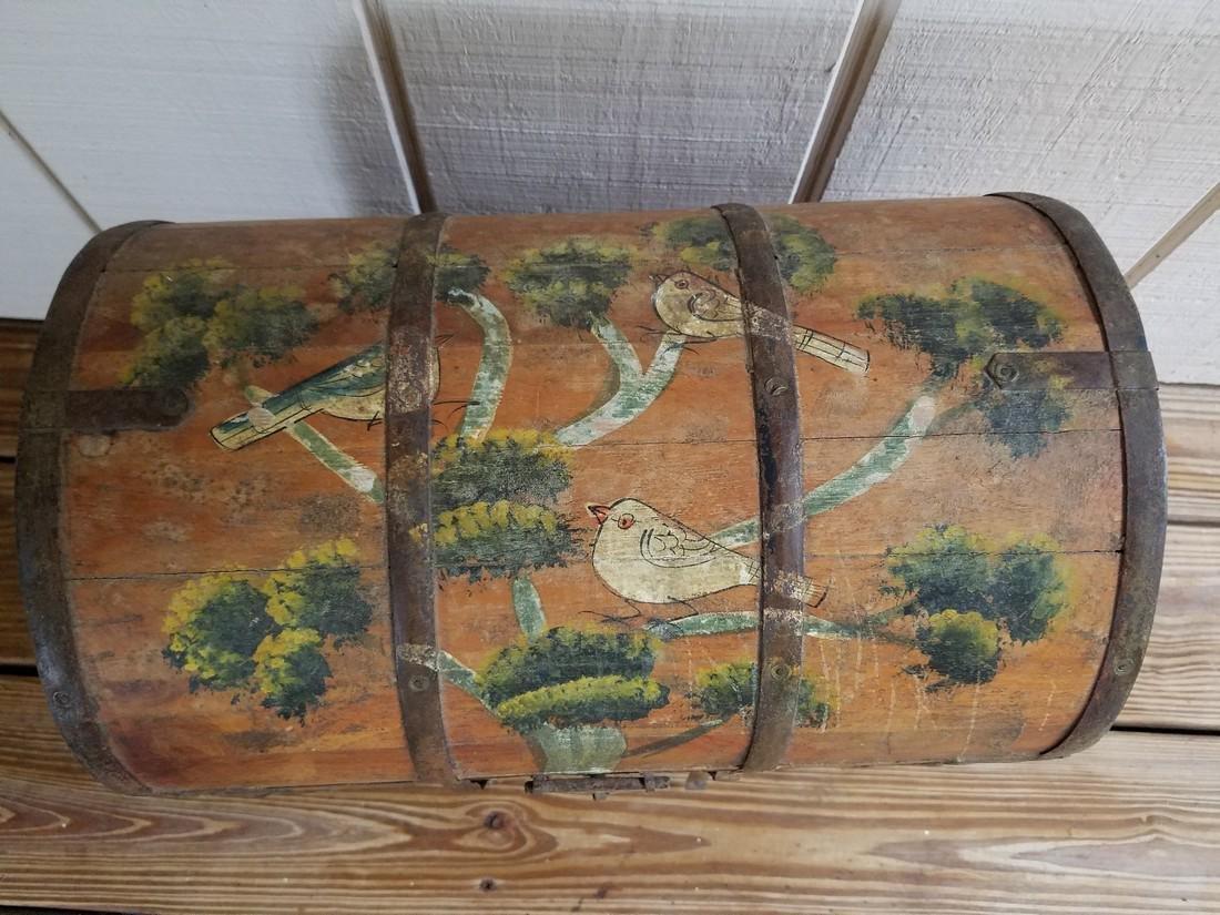 Vintage Wooden Milk Box Hand Stenciled - 3