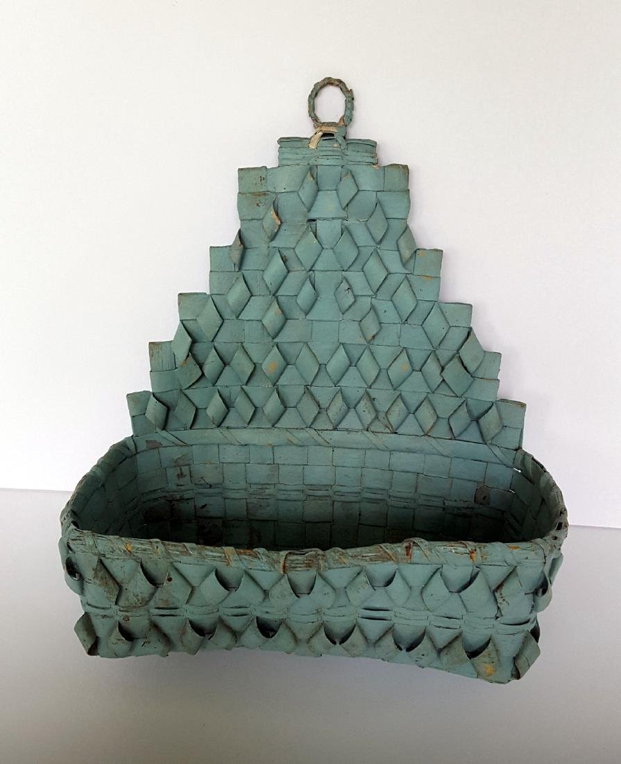 Early Indian Wall Basket in Original Paint