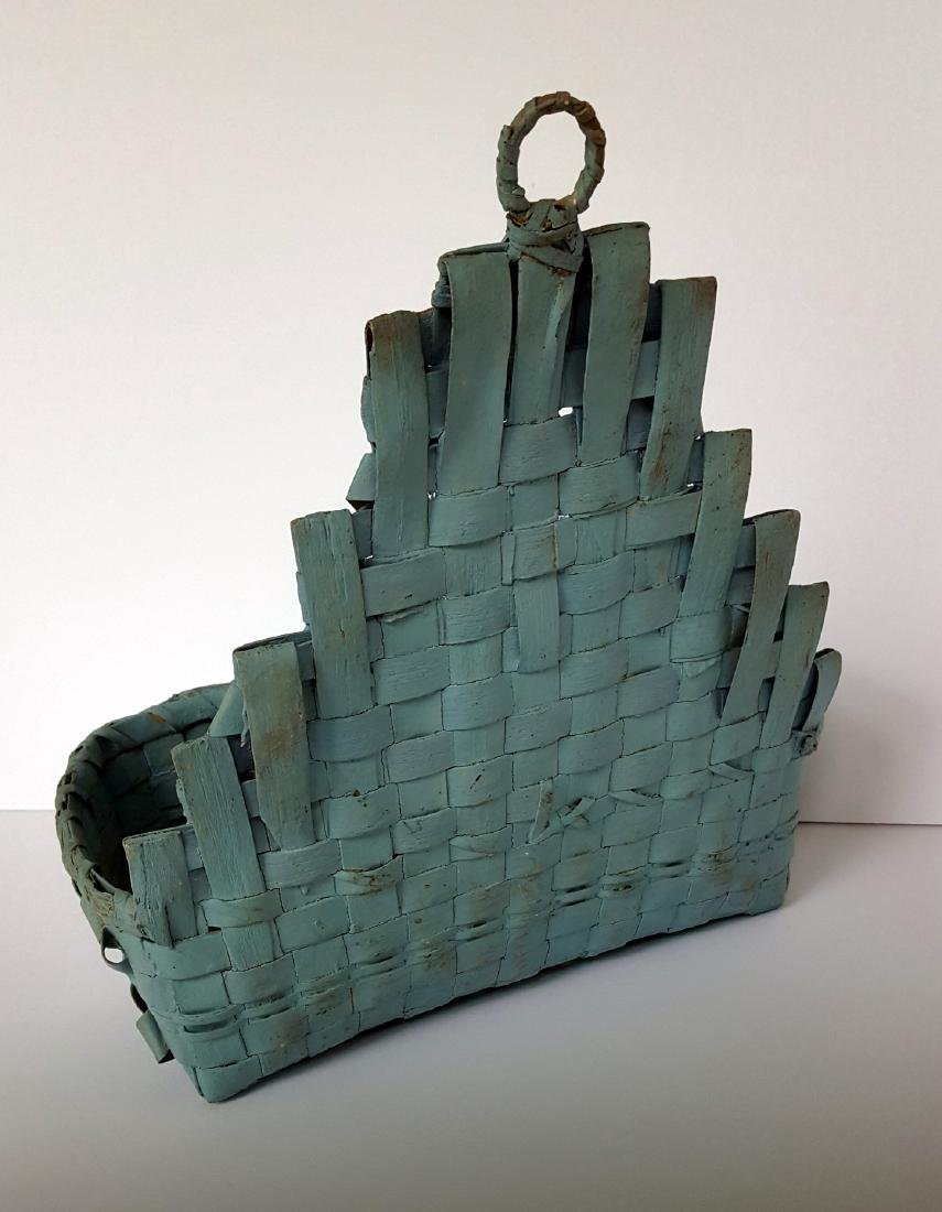Early Indian Wall Basket in Original Paint - 2