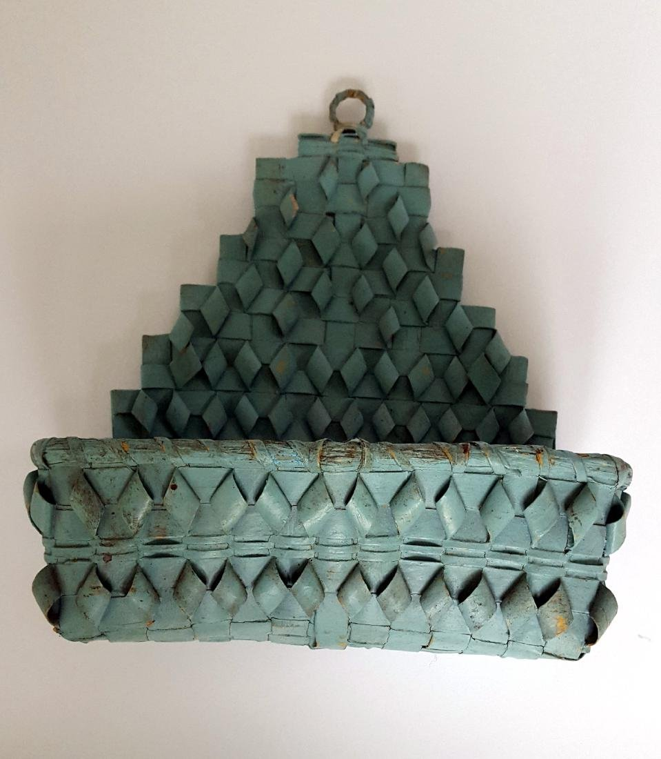 Early Indian Wall Basket in Original Paint - 3