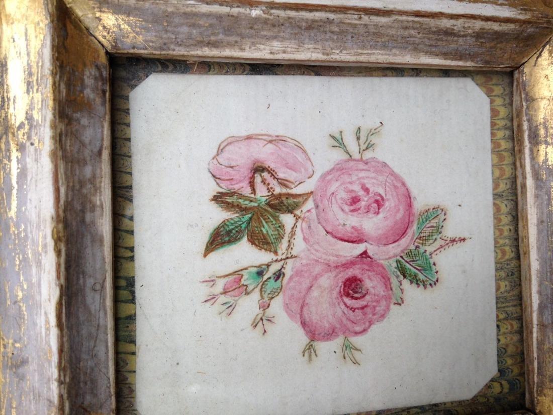 Moss Rose Watercolor 1840s - 3