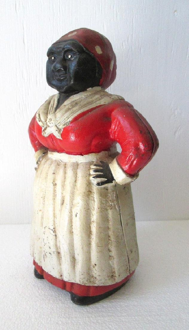 Large Cast Iron Mammy Bank