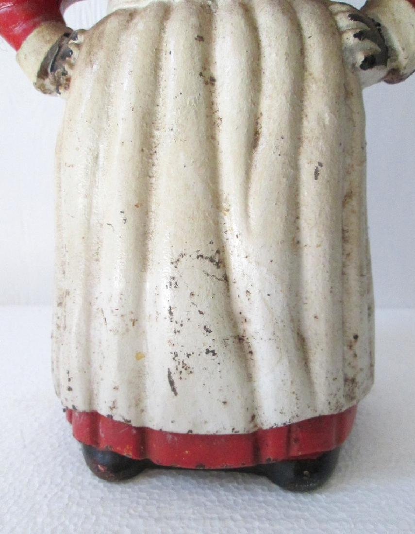 Large Cast Iron Mammy Bank - 5