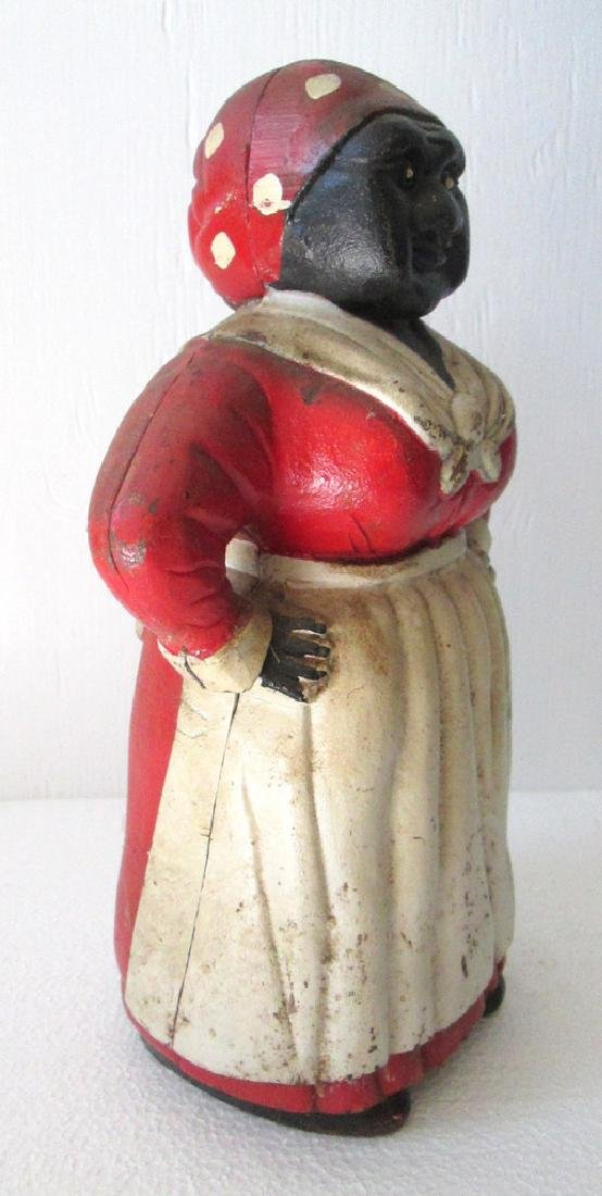 Large Cast Iron Mammy Bank - 6