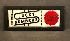Lucky Numbers Sign, 1940