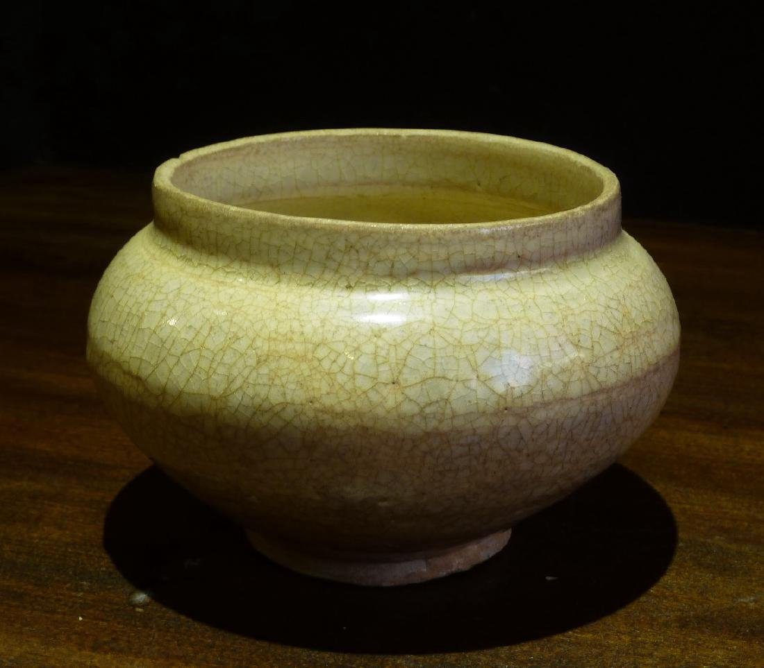 Sung Period Qingbai Off White Jar Wth Tinted Glazed