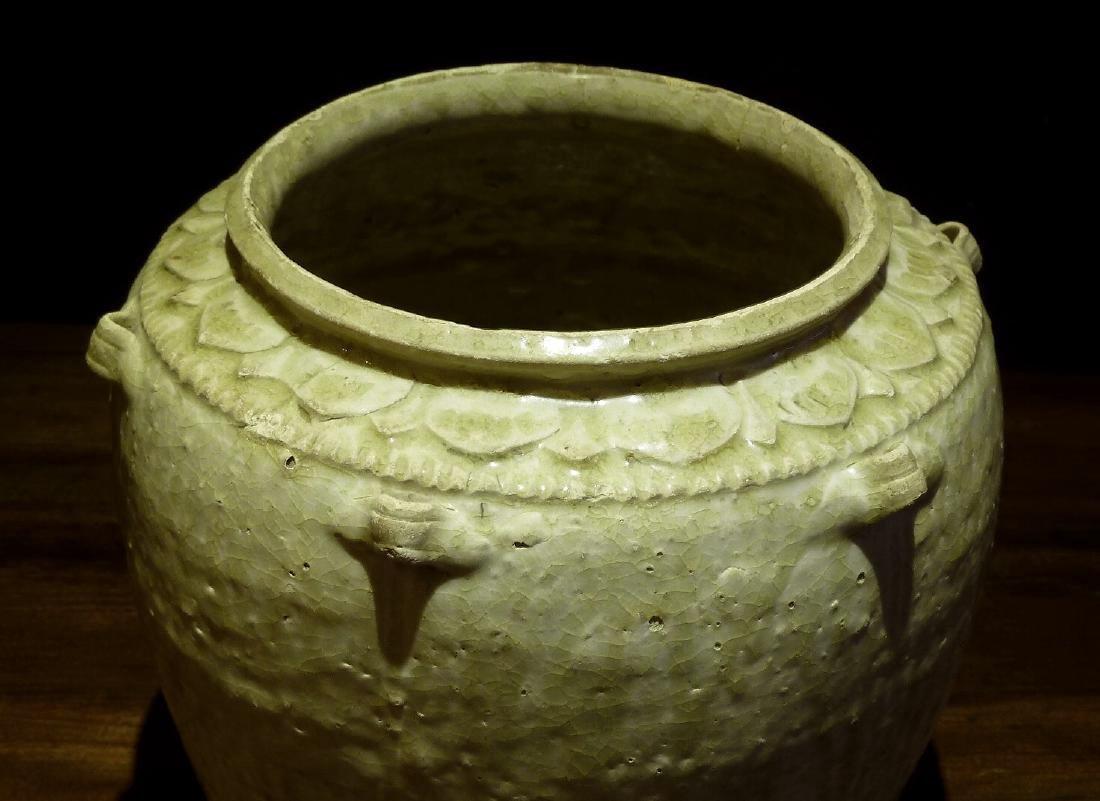 Sung Period Qingbai Off White Jar Wth Lotus Rim - 2