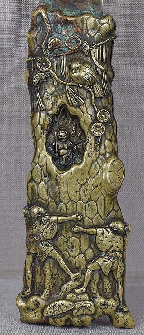 Antique Japanese Sacred Pine Bronze Page Turner