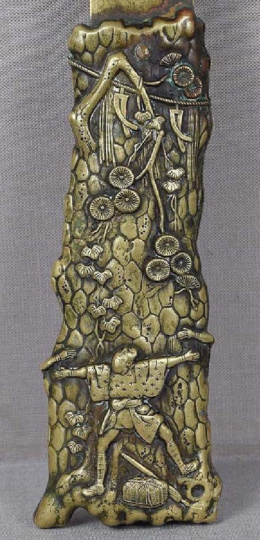 Antique Japanese Sacred Pine Bronze Page Turner - 3