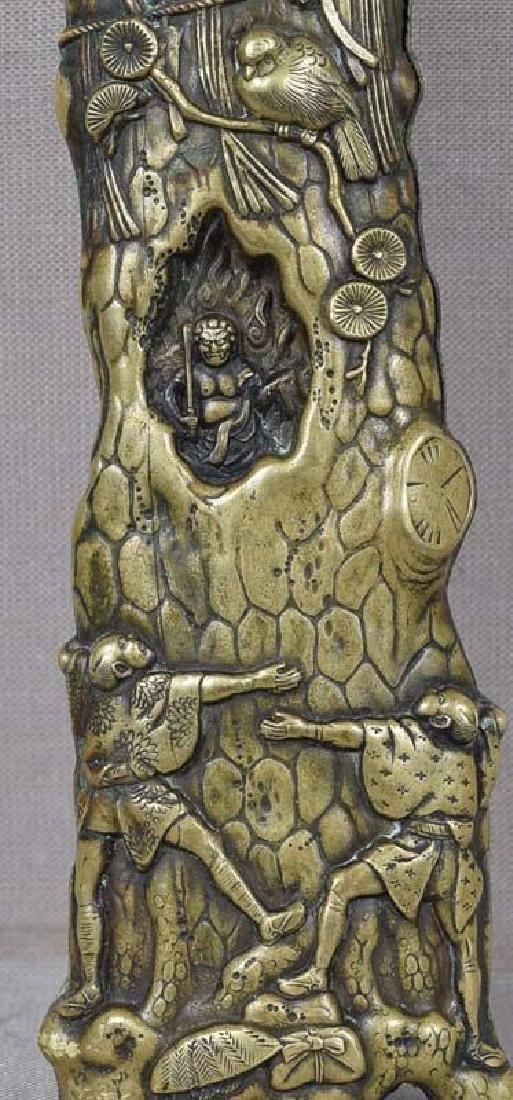 Antique Japanese Sacred Pine Bronze Page Turner - 5