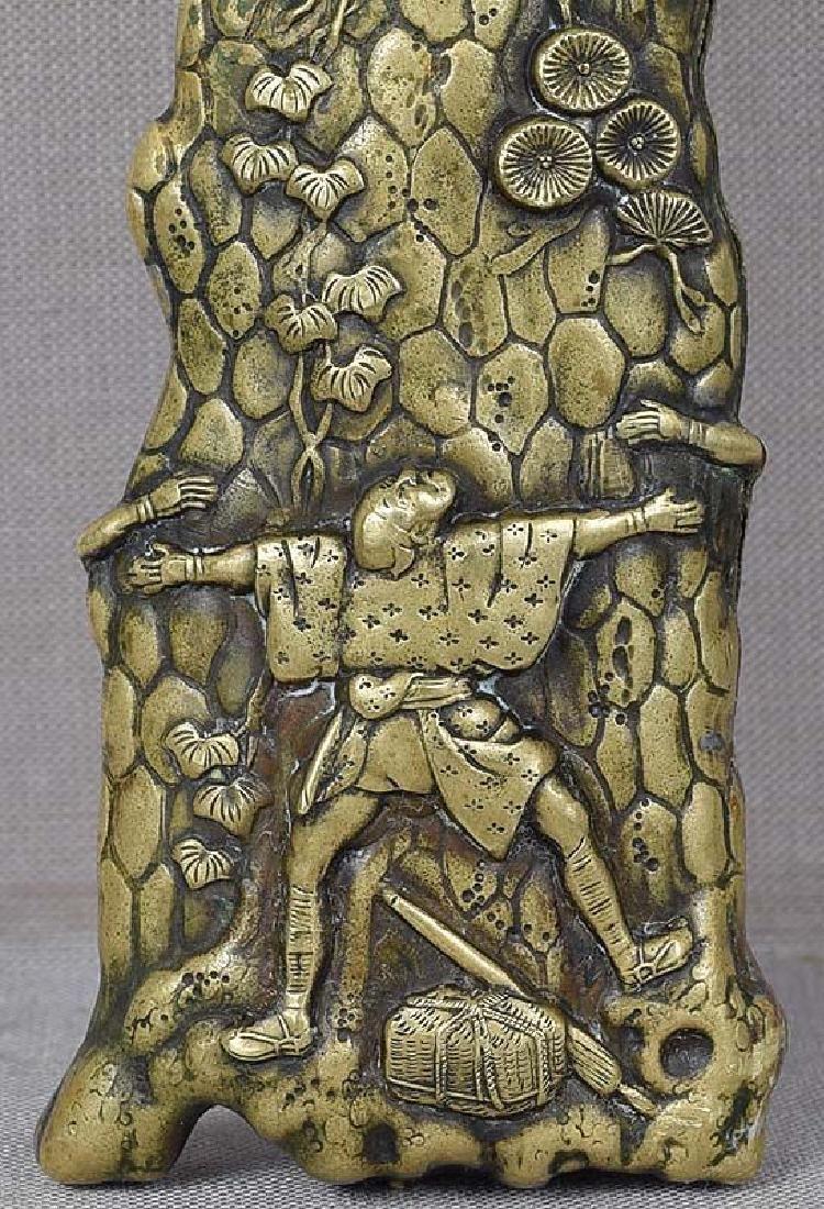 Antique Japanese Sacred Pine Bronze Page Turner - 6