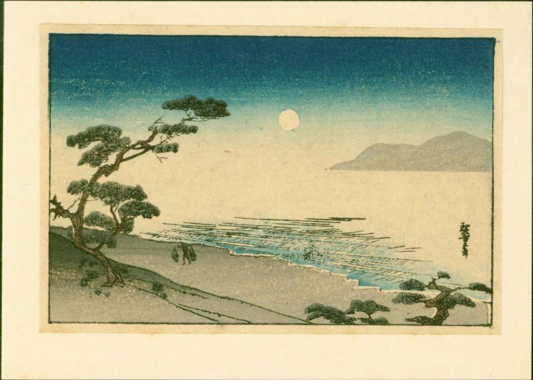Ando Hiroshige 2 Woodblock Mini Prints - 2