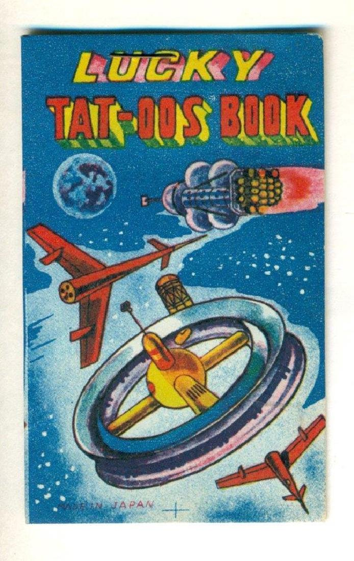 Vintage Atomic Age Temporary Tattoo Booklet