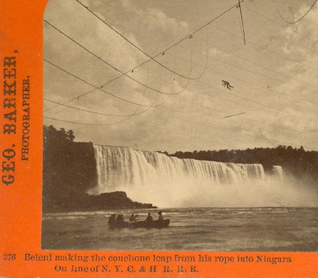 1873 Niagara Falls Dare Devil Henry Bellini Tight Rope