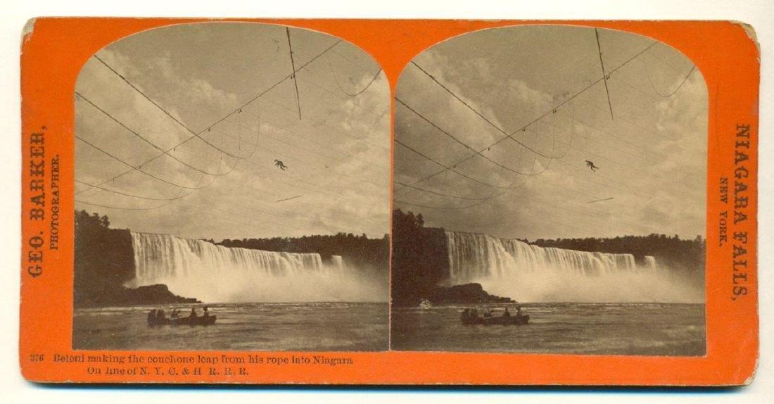 1873 Niagara Falls Dare Devil Henry Bellini Tight Rope - 2