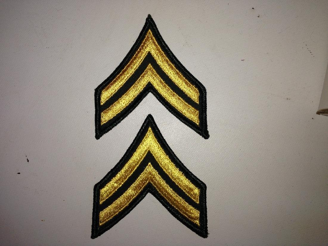 2 Vintage Patches Military US Army CPL (E-4) Rank