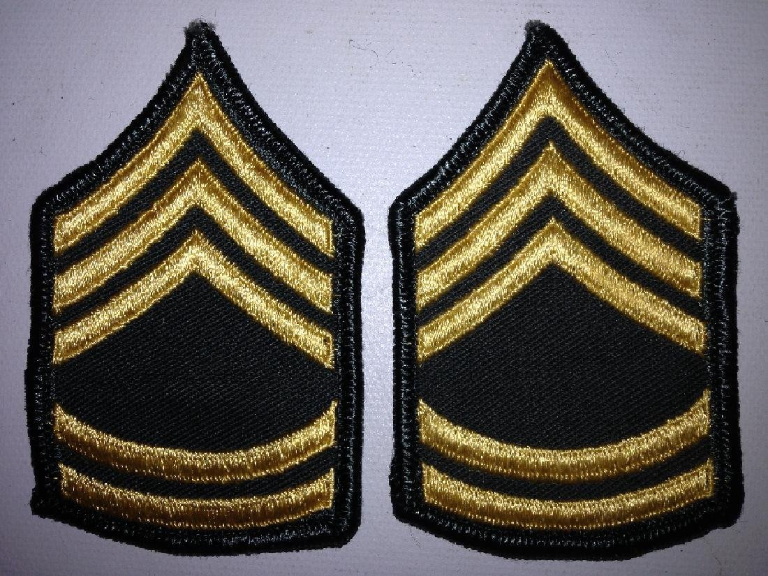 2 Patches Military US Army SFC (E-7) Insignia Women's