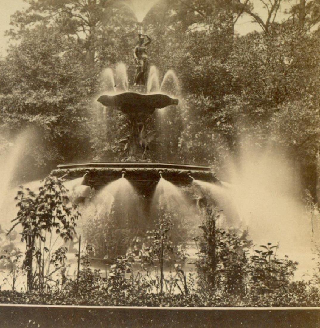 1880 Savannah Georgia Ga Forsyth Park Fountain