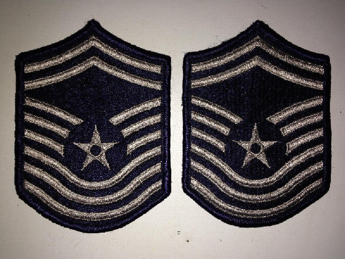 2 Vintage Patches Military US Air Force E-9 Women's