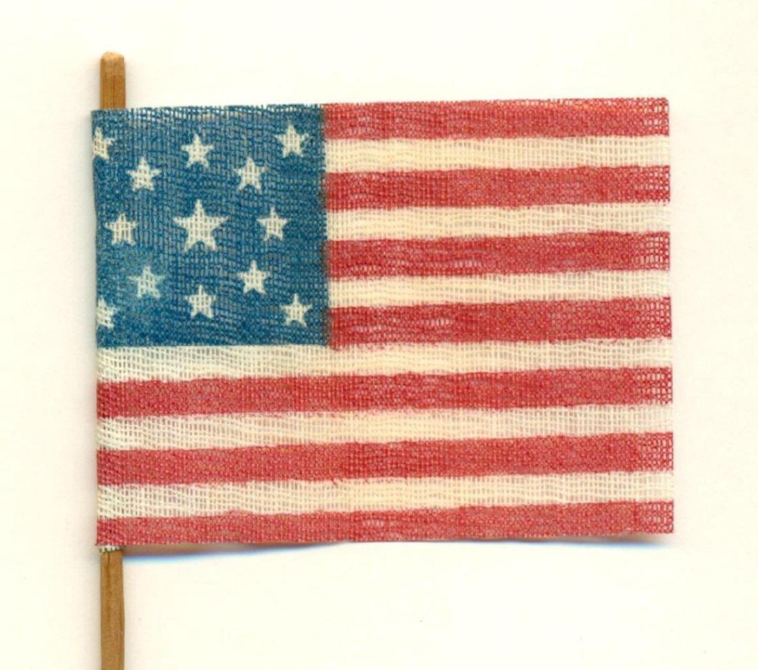 1876 Vintage 13 Star Centennial American Parade Flag