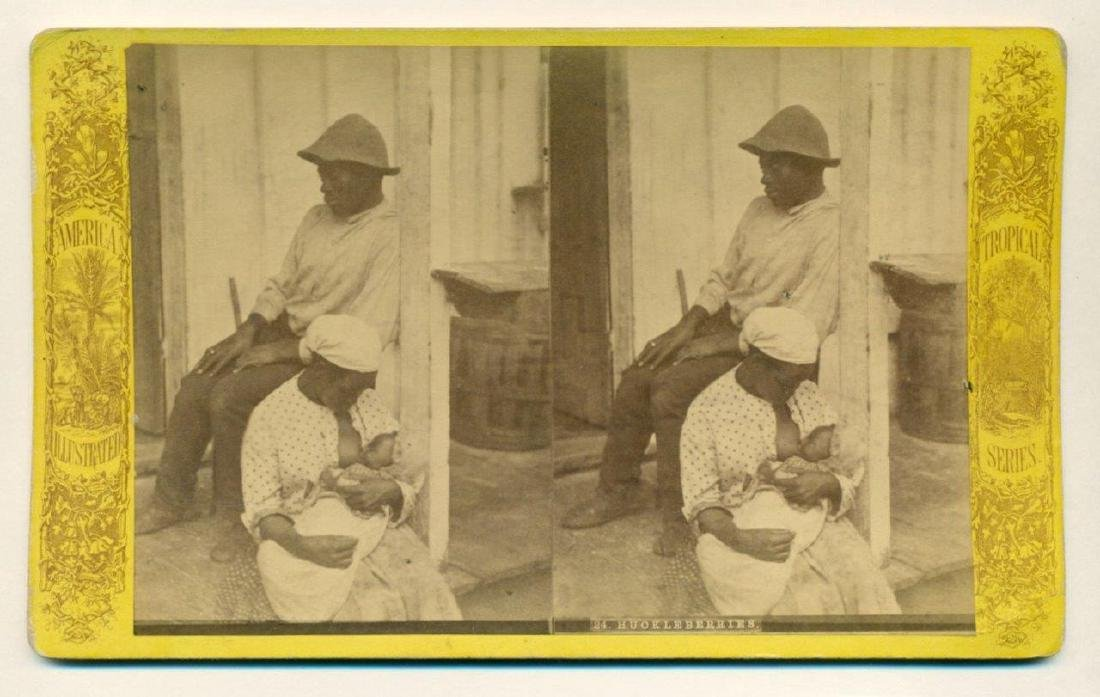 1880 African American Mother Breast Feeds Infant - 2