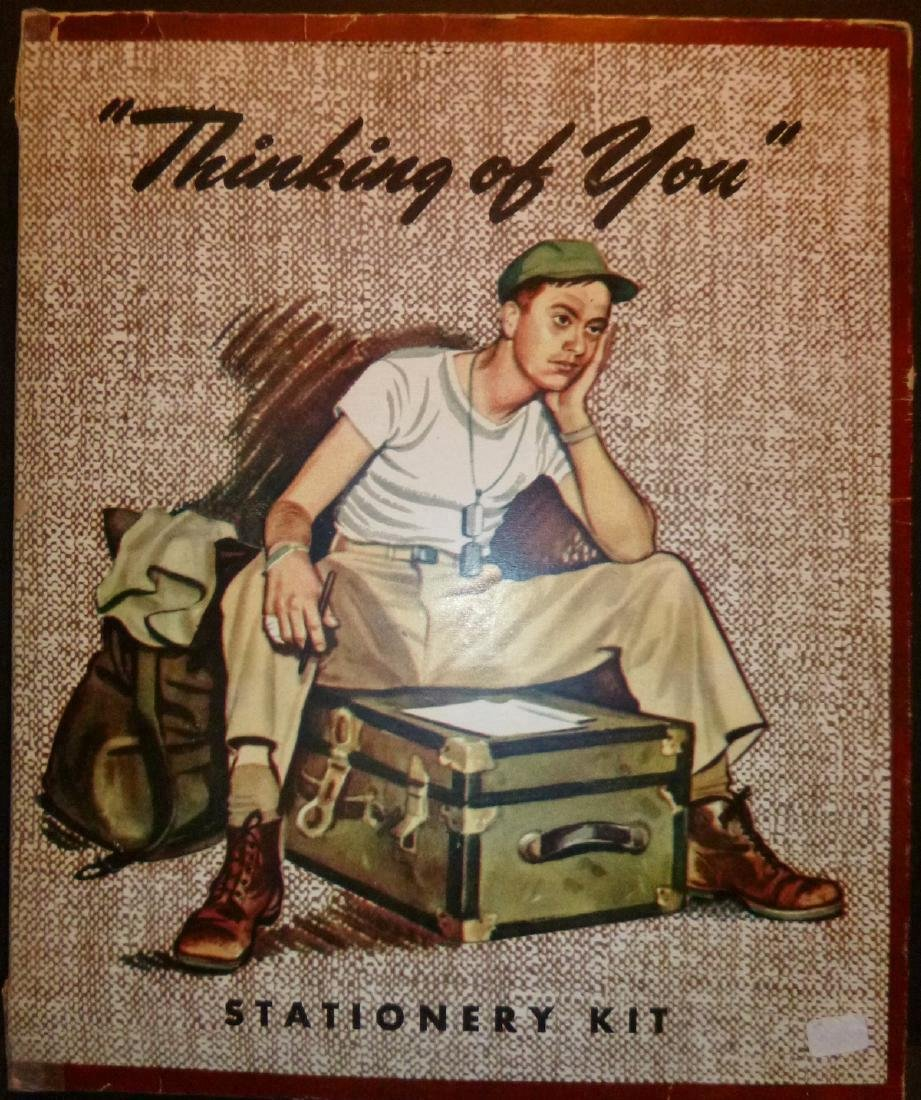 """Thinking of You""  American GI Stationary Kit"