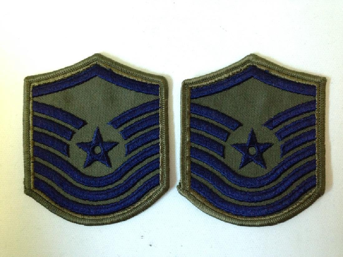 2 Vintage Patches Military US Air Force E-8 / MSgt E-7