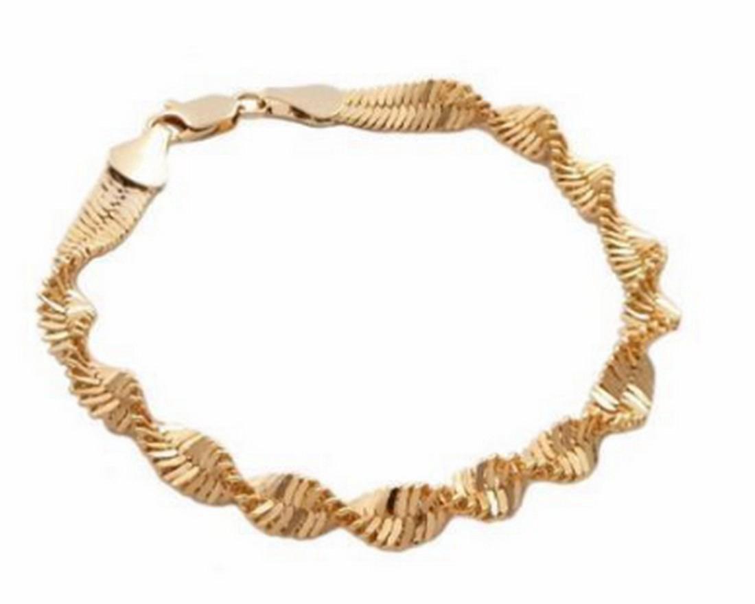 14K Gold Filled Twist Bracelet