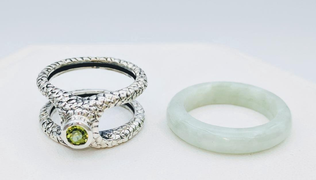 Sterling Silver Two-Way Jade Peridot Ring, .25ctw - 5