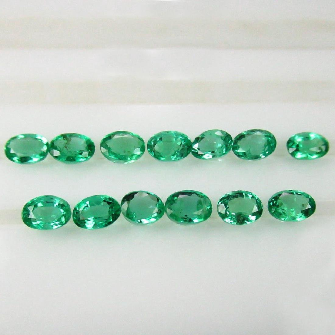 2.36 Carat - 13 Loose Emeralds