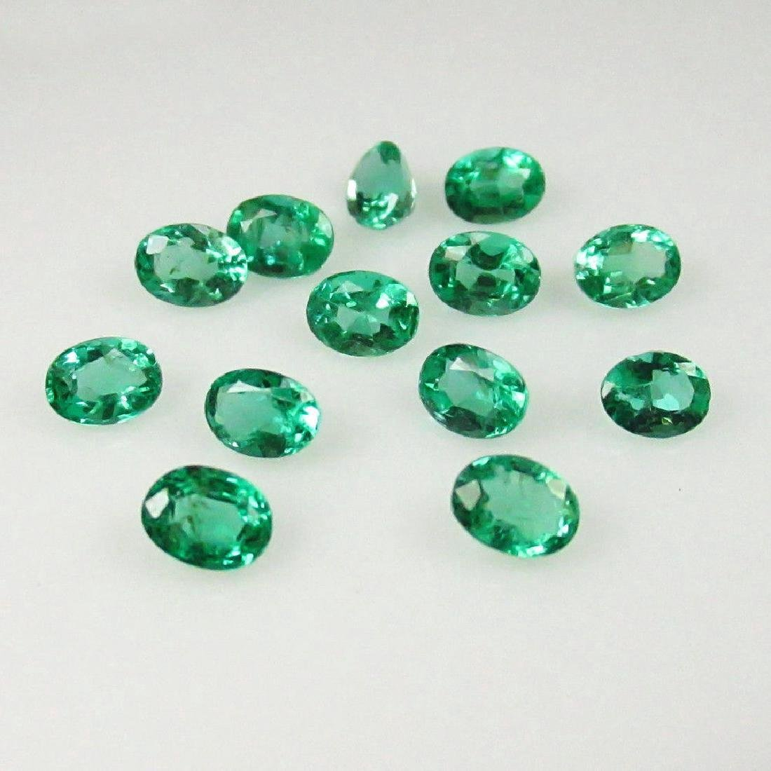 2.36 Carat - 13 Loose Emeralds - 2