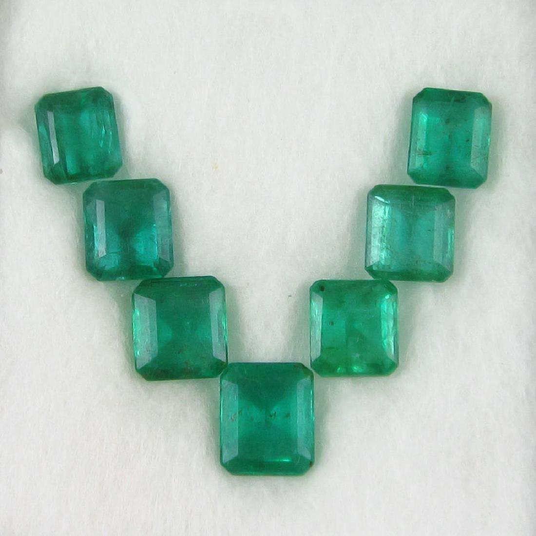 13.19 Carat - 7 Loose Emeralds
