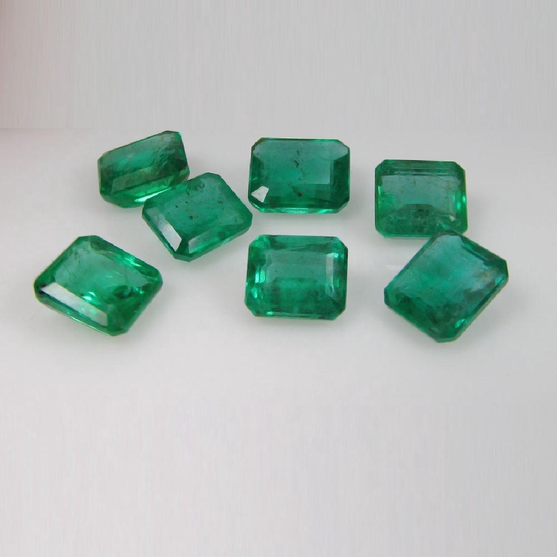 13.19 Carat - 7 Loose Emeralds - 2